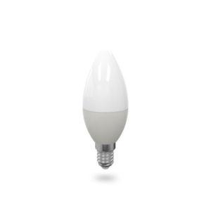 LED žárovka E14 C37 6W studená bílá