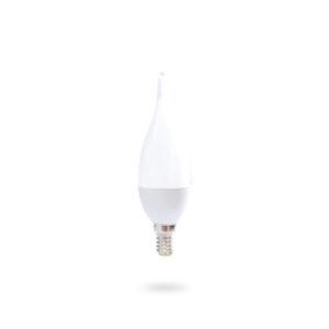 LED žárovka E14 C30 5,2W teplá bílá