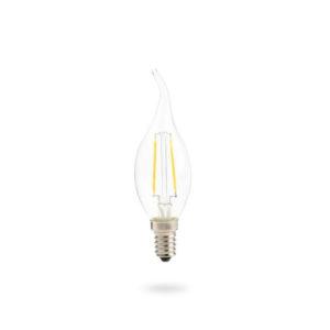 LED žárovka E14 C35 4W teplá bílá
