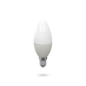 LED žárovka E14 C37 7W studená bílá