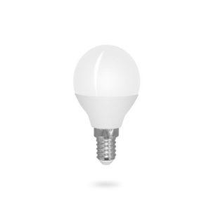 LED žárovka E14 G45 6W teplá bílá