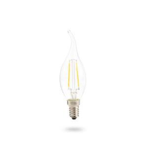 LED žárovka E27 FL 8W teplá bílá
