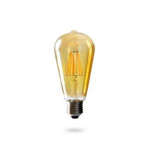 LED žárovka E27 G125 6W teplá bílá