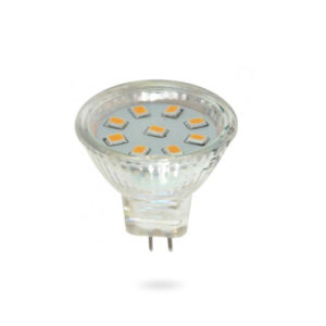 LED žárovka MR11 SMD 1,8W studená bílá